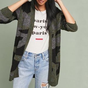 Anthropologie • Camo Cardigan